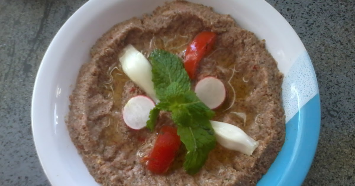 Lebanese food kibbe