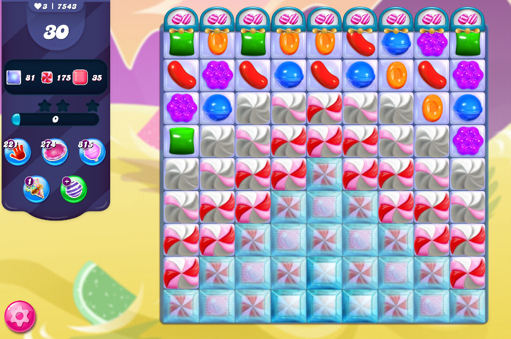 Candy Crush Saga level 7543
