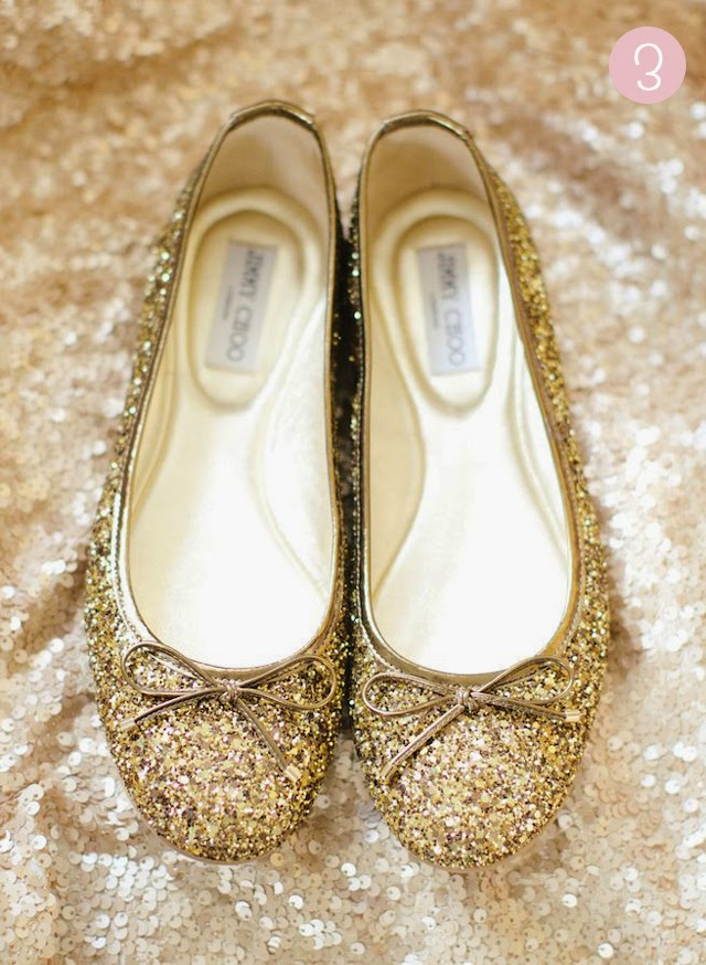 zapatos nochevieja navidad bailarinas doradas glitter