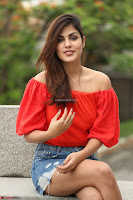 Rhea Chakraborty in Red Crop Top and Denim Shorts Spicy Pics ~  Exclusive 001.JPG