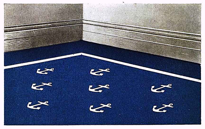 1919 anchor pattern carpet in color