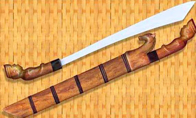 Gambar Candung Senjata Tradisional Lampung