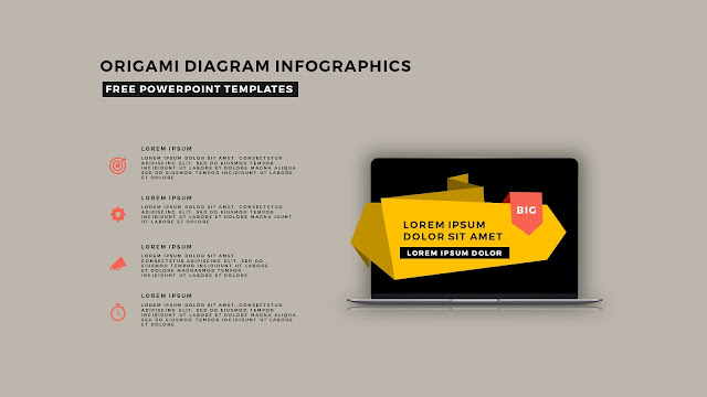 Origami Diagram Infographic Free PowerPoint Template Slide 11