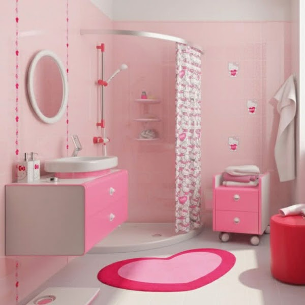 Baño decorado con Hello Kitty