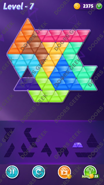 Block! Triangle Puzzle 9 Mania Level 7 Solution, Cheats, Walkthrough for Android, iPhone, iPad and iPod