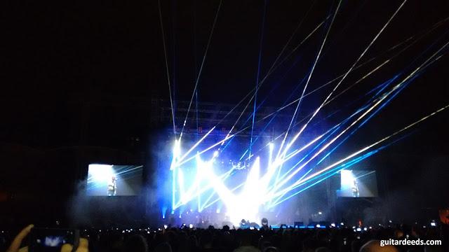 Queen Laser Stage 2016 Adam Lambert