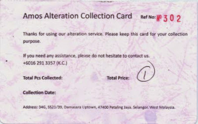 Amos Apparel Alteration Collection Card