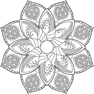 Coloring Pages For Adults Adult Mandala Coloring Book Windows