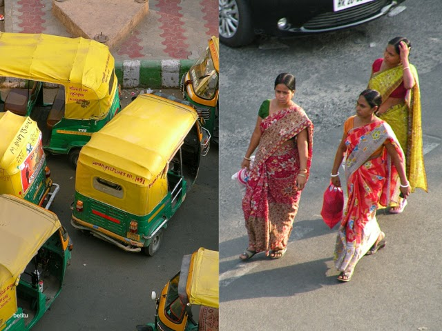 autorickshaw and women by betitu