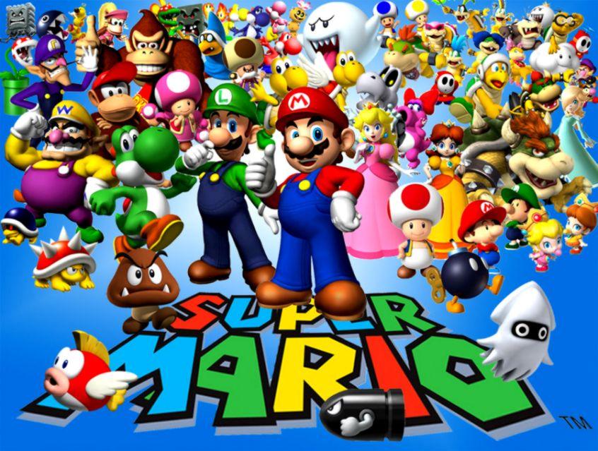 Super Mario Characters Wallpaper Amazing Wallpaper HD Library •