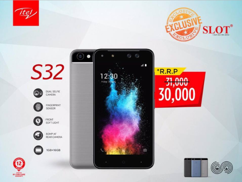Itel S32 now available exclusively in any SLOT outlet nationwide