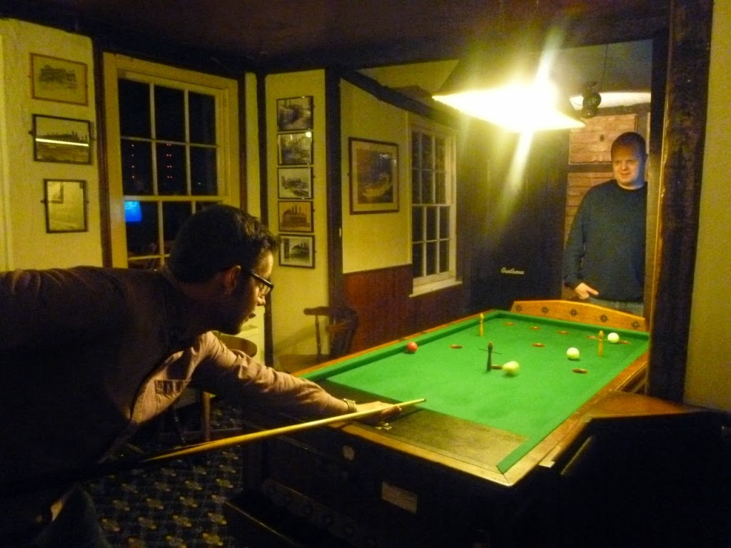 Bar Billiards at the Three Daws pub in Gravesend, Kent