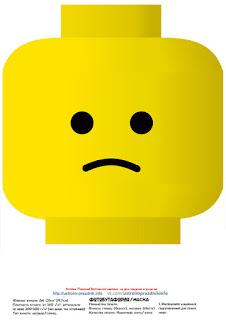 Máscaras de Lego para Imprimir Gratis.
