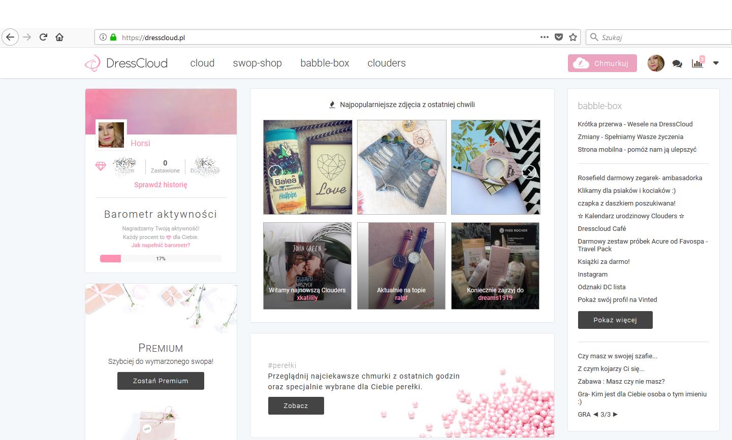 Alternatywa społecznościowa dla Instagrama - DRESSCLOUD