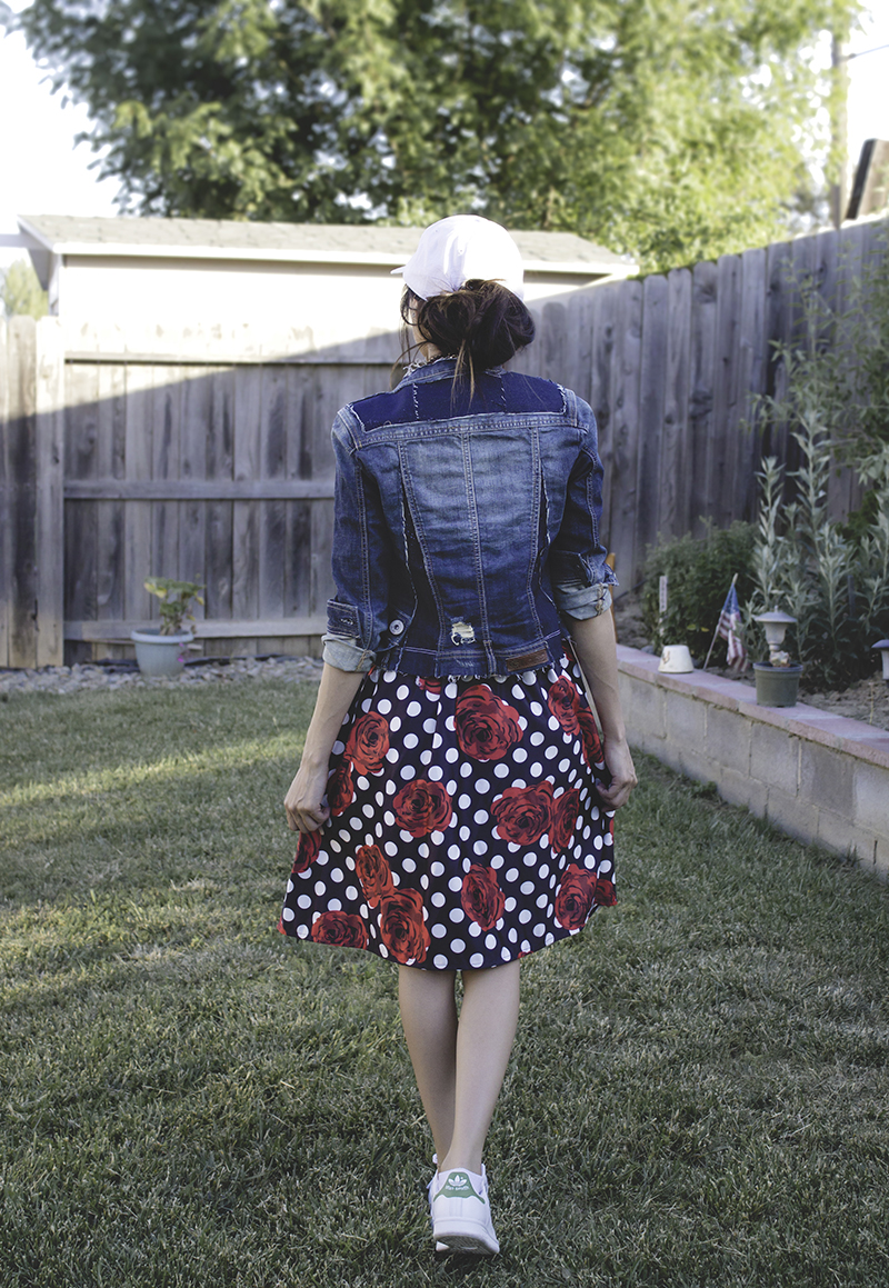 madewell inspired distressed denim jacket refashion upcycle