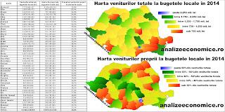 Harta gradului de colectare a veniturilor proprii la bugetele locale