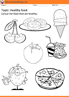 healthy and unhealthy food worksheets