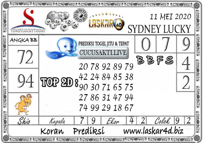 Prediksi Sydney Lucky Today LASKAR4D 11 MEI 2020