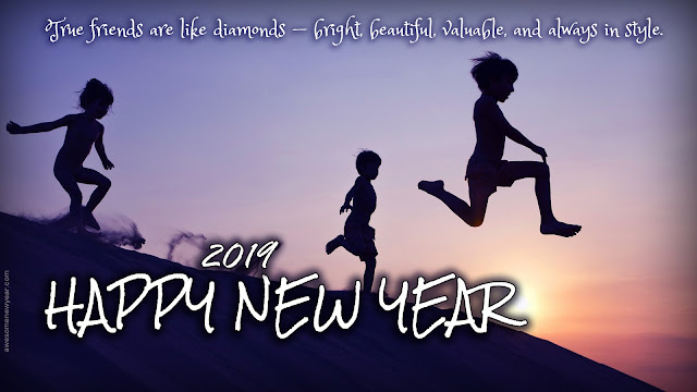New Year 2019 Friendship Cards