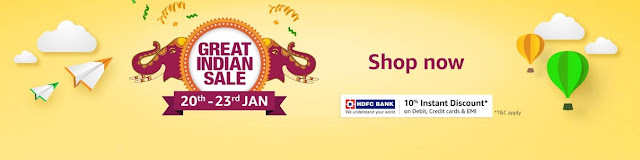 Amazon Great Indian Sale - 20th January to 23th January 2019