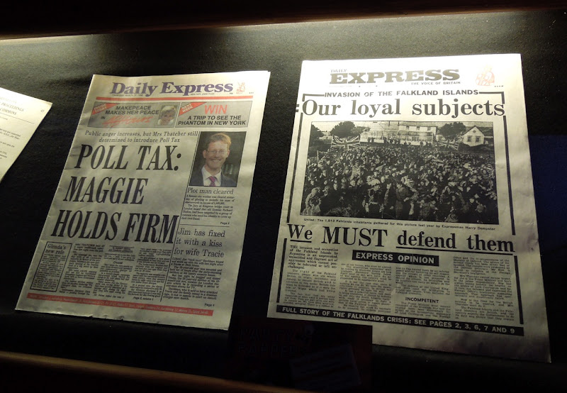 Iron Lady newspaper movie props