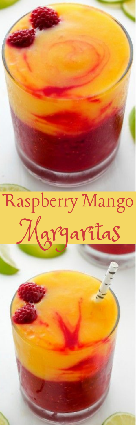 Raspberry Mango Margaritas #mango #healthydrink