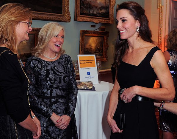 Kate Middleton wore Preen by Thornton Bregazzi Finella Dress, Temperley London Crystal Bow Belt