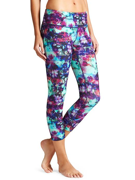 athleta sonar crop floral fade