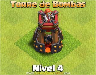 Nova Defesa: Torre de Bombas Nível 4