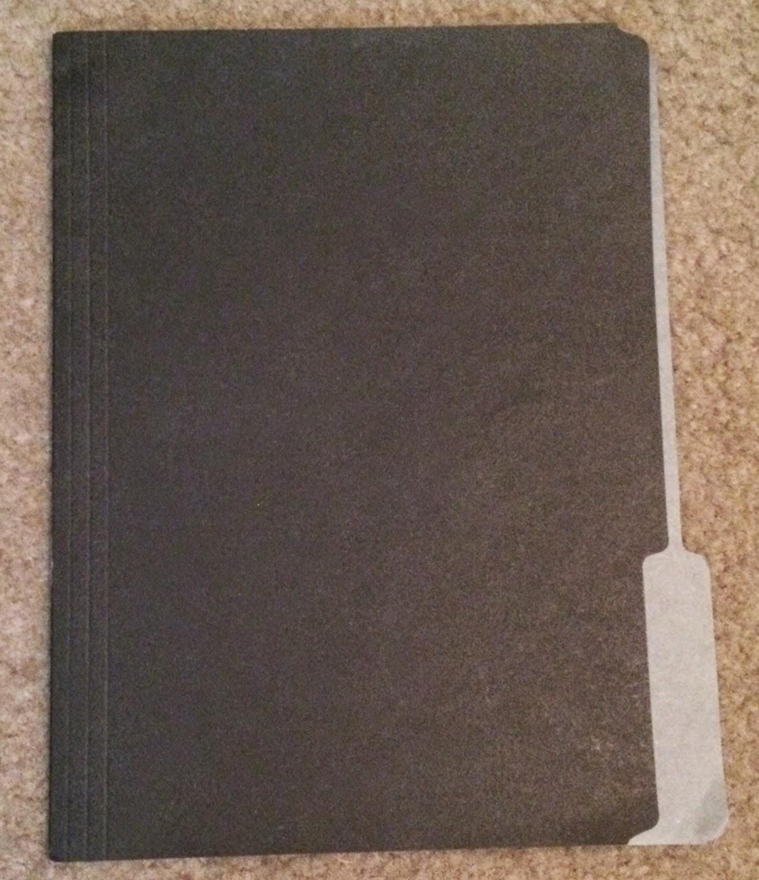 regular black folder