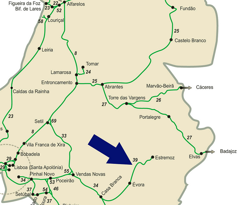 mapa de portugal estremoz A Nossa Terrinha: O encerramento do troço Évora Estremoz da Linha  mapa de portugal estremoz