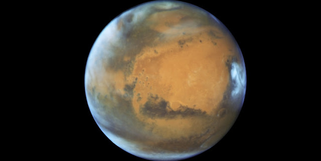 Mars in opposition 2016. Credit: NASA, ESA, the Hubble Heritage Team (STScI/AURA), J. Bell (ASU), and M. Wolff (Space Science Institute)