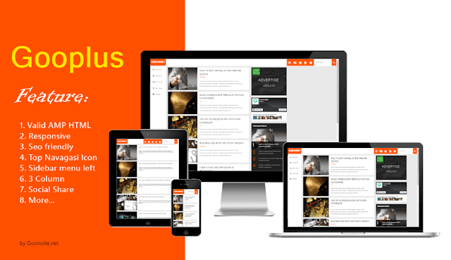 Gooplus Valid AMP Responsive Blogger Template