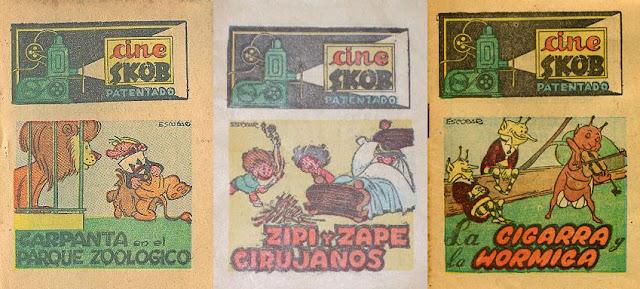 Escobar dibujó películas para Cine Skop de Zipi y Zape y Carpanta y del cuento La cigarra y la Hormiga
