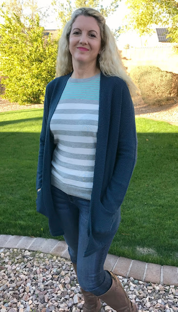 Stitch Fix #29 Review - January 2017 - Staccato Caylie Textured Open Cardigan