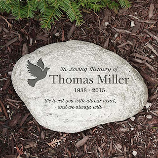 Personalized Dove of Peace Garden Stone