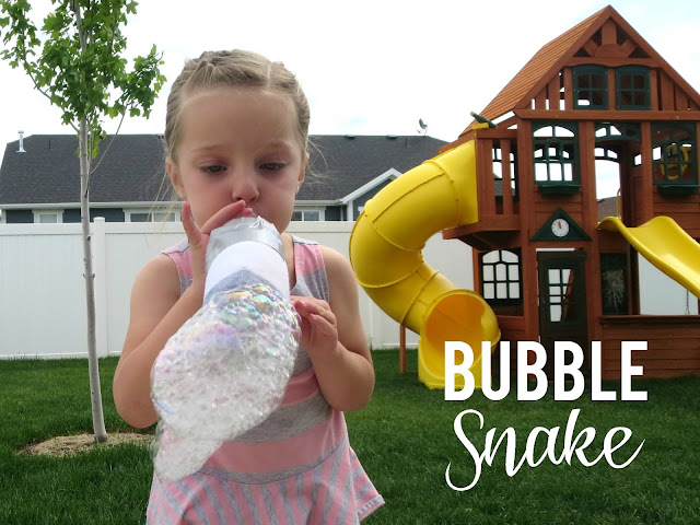 Bubble Snake: My kids love making these bubble snakes and I love that they are free to make!