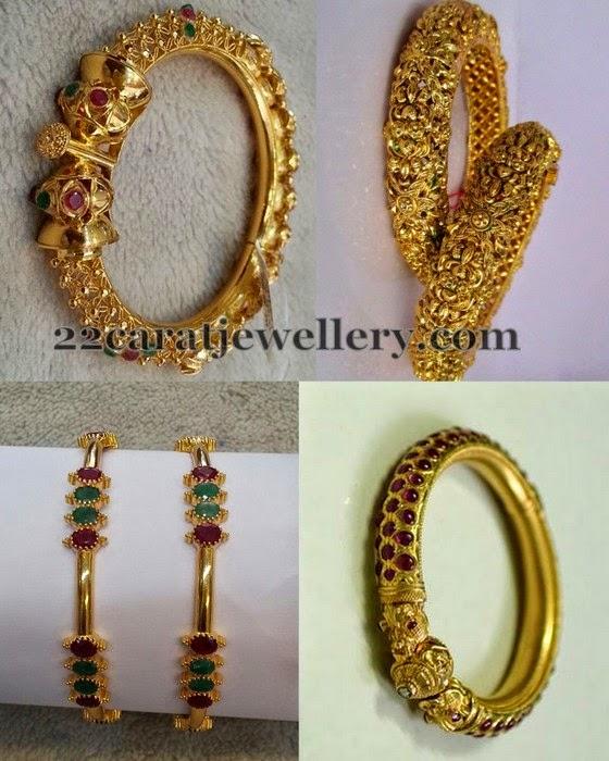 Attractive Antique Bangles Gallery Jewellery Designs