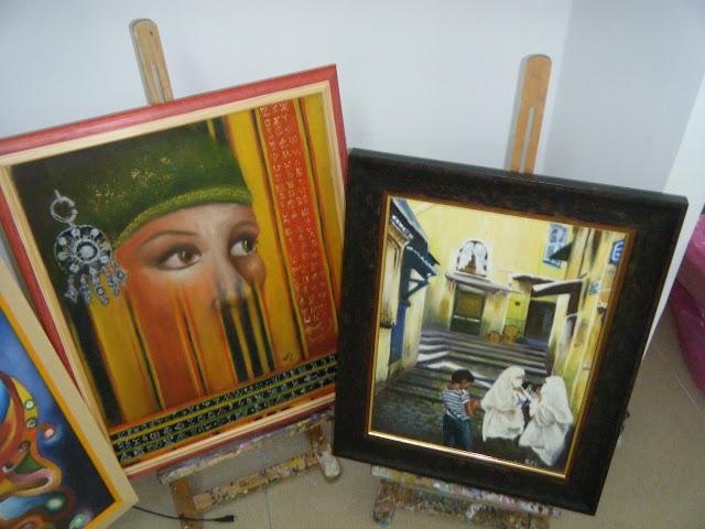 Les peintures de mes élèves à l'expo 26