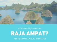Ngapain Saja 4D3N di Raja Ampat? Day 1: Perjalanan Panjang Sorong-Pulau Mansuar
