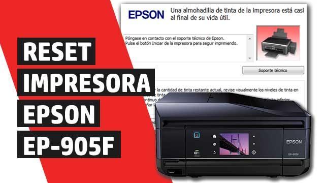Cómo resetear almohadillas impresora Epson EP905F