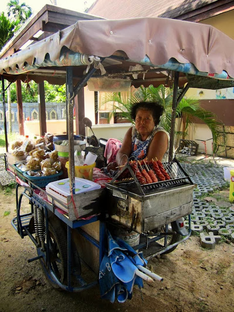 woman food vendor in Thailand