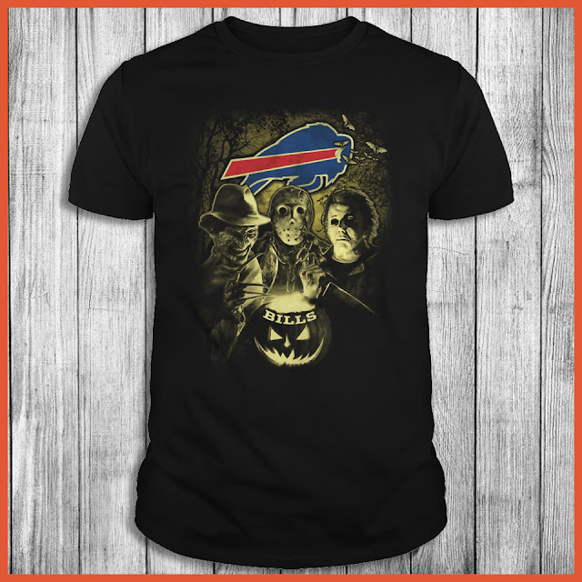 Buffalo Bills Halloween Horror Movie Shirt