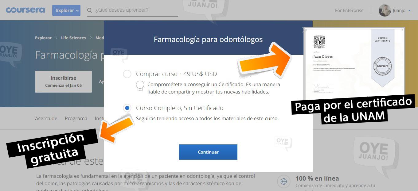 7dbb96cbe Con estos sencillos pasos ya puedes matricularte en cualquiera de los  cursos online gratis de la UNAM para 2019. Aquí tienes la parrilla completa