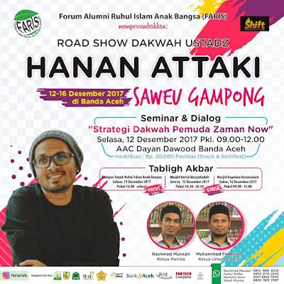 Roadshow Dakwah Ust. Hanan Attaki Banda Aceh