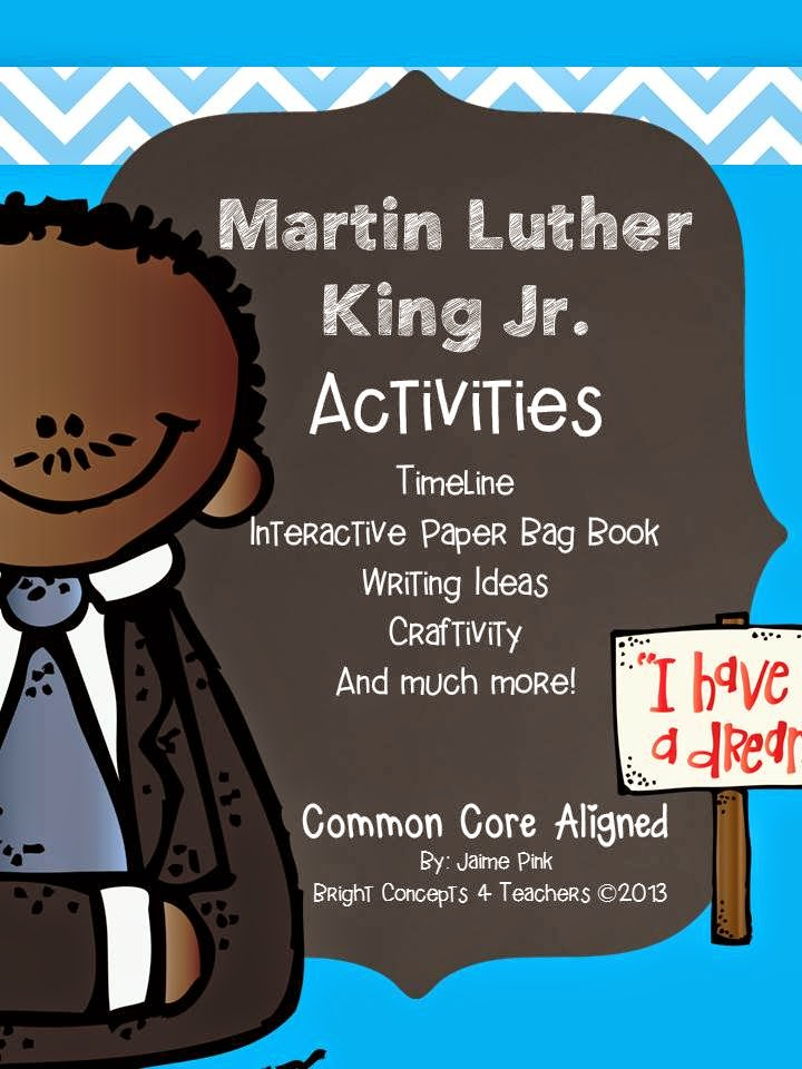 https://www.teacherspayteachers.com/Product/Martin-Luther-King-Jr-Activities-Craft-Paper-Bag-Book-1031510