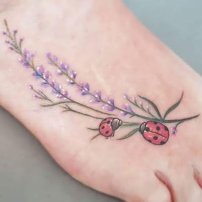 Lavender And Ladybug Tattoo Ideas