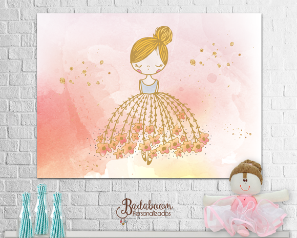 bailarina, ballet, painel, arte, digital, aquarela, watercolor, arte personalizada, painel bailarina