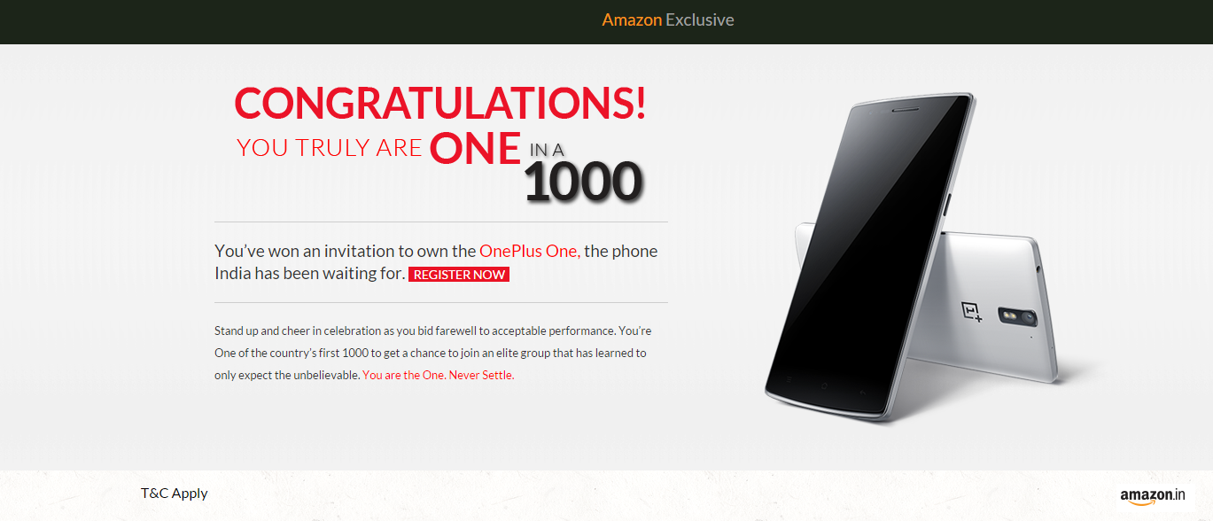 In Oneplus One 1 1000 Contest