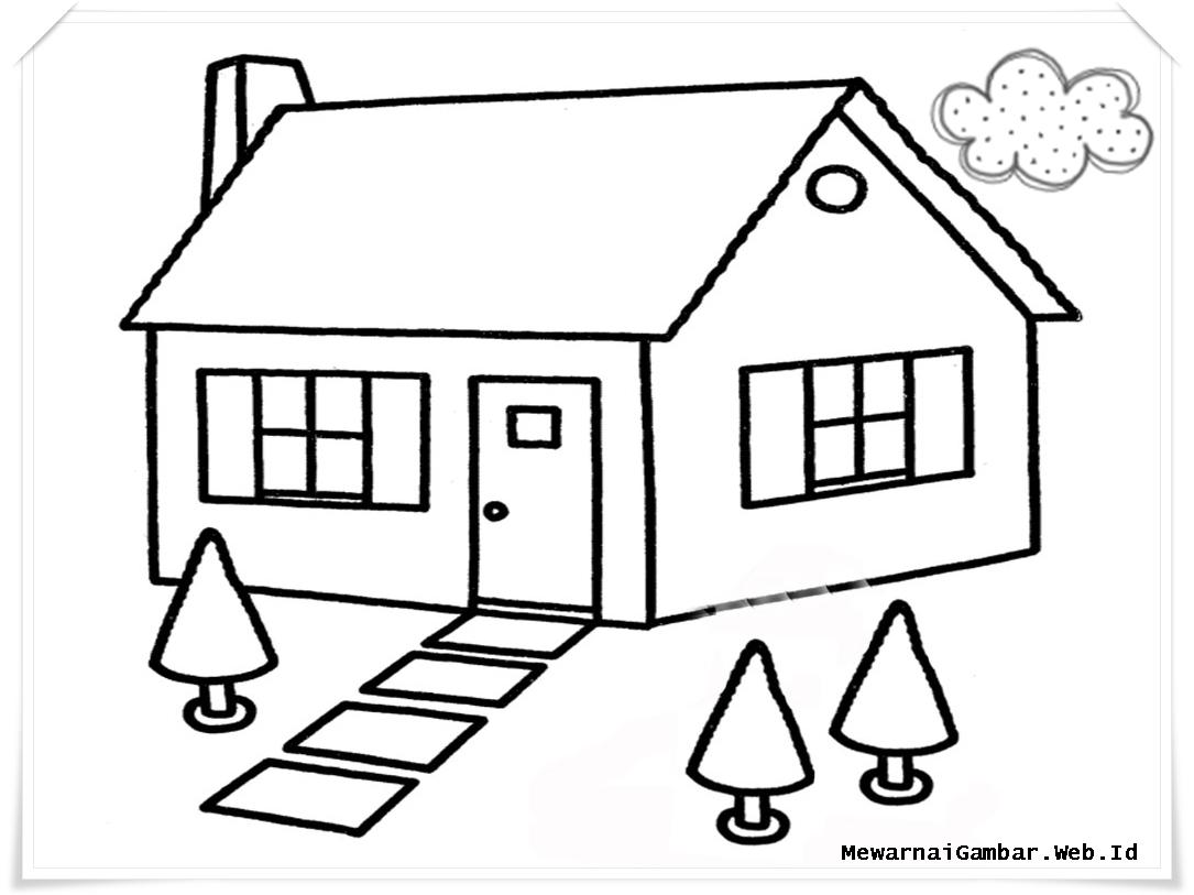 Belajar Gambar Rumah Anak SD Rumah Joglo Limasan Work